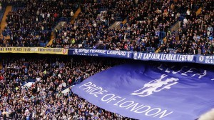 Chelsea fans in an unfamiliar spot this season.