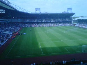 The view from Matthew's seat in the Bobby Moore stand