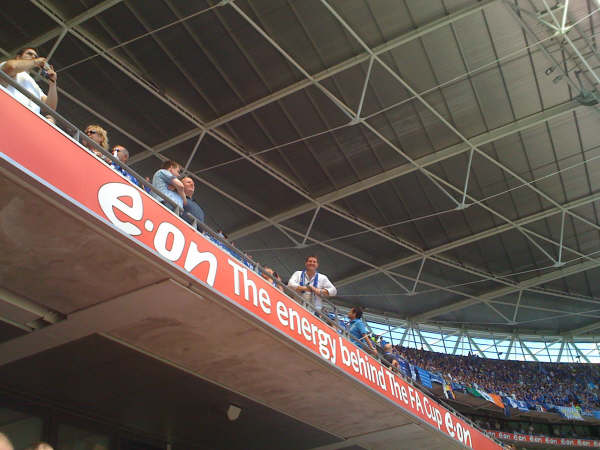 Mr Fricker is up there at the 2009 cup final when Chelsea Blues beat Everton Blues
