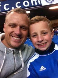 Del with son