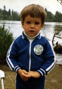 Martin Fricker as a young Evertonian