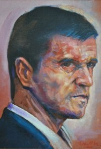Roy Keane as portrayed  by Owen Lennox