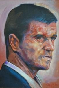 Roy Keane as portrayed  by Owen Lennox