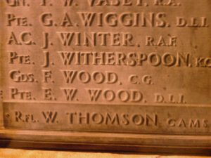 7547 Private William Landreth Thompson, shot at dawn, 22 April 1916