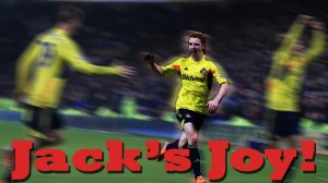 Jake captures that rare moment  as Colback celebrates his goal against You Know Who