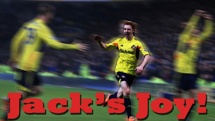 Jake captures that rare moment  as Colback celebrates his goal