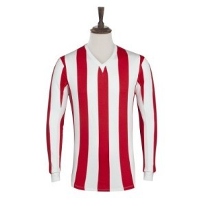 Azteca Jersey Old White  Red Stripe LS