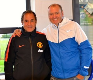 Tony, with John Cooke, MUFC youth team coach, at the recent Northern Ireland Milk Cup