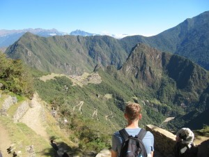 Nathan Carr at the top of Machu Picchu