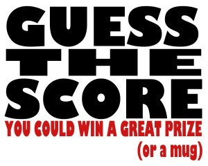 Jake's new Guess the Score image,  with the usual insolent caption