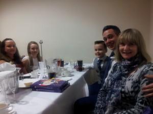 Pete's dining companions