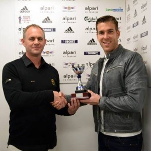 Graeme makes the Kness Up Mother Brown 'Signing of Season; award to Adrian