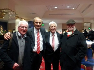 Four heroes of May 5 1973: Monty and Dick Malone flanked by the two Petes, Horan and Sixsmith