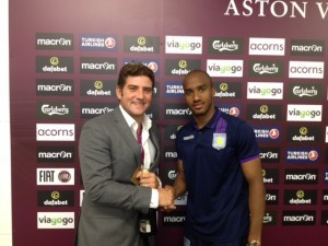 Howard with Fabian Delph