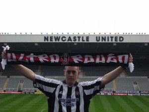 Anthony Petit's ultra support for Newcastle and Rouen