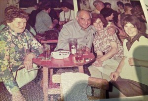 Ernie and Sadie Randall on holiday in the Isle of Man (Sadie's sister, Jean, to dad's right. My sister Sandra to her left)
