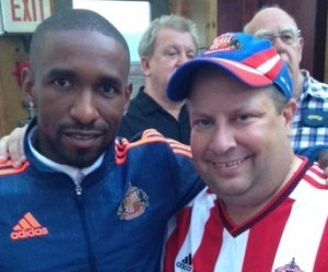 Martin Bates TFC season ticket holder and SAFC fan with ex Toronto and now SAFC man Jermain Defoe