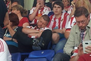 Asleep at Leicester - just like the back four!