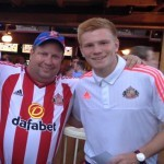 Martin Bates and Duncan Watmore prepare for a pre-match discussion of macroeconomics and high finance