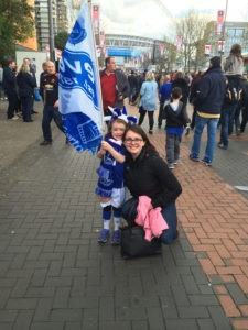 Lydia with small Evertonian
