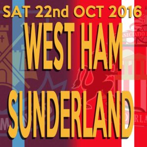 Guess the Score - whoever you support - and maybe win a prize mug:  https://safc.blog/2016/10/west-ham-united-v-safc-guess-the-score/