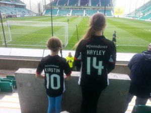 Hayley indulges her other footballing passion